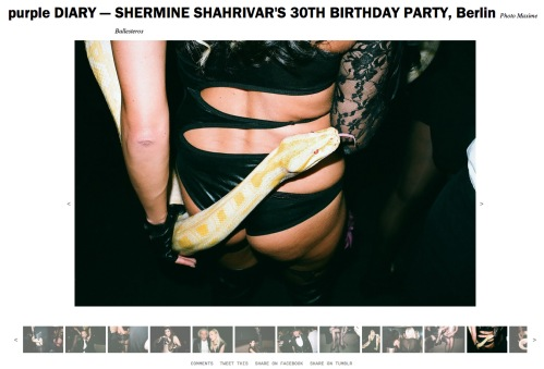 purple DIARY   SHERMINE SHAHRIVAR S 30TH BIRTHDAY PARTY  Berlin