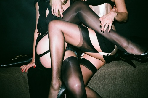 nylons on the couch_2