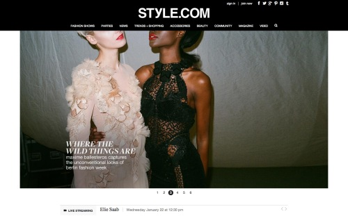 Style.com  The Online Home of Fashion  News  Runway Shows  Trends  Fashion Models  Designers  Shopping  Beauty   More